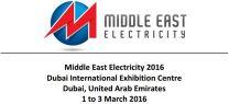 1-3 March 2016 - Middle East Electricity DUBAI